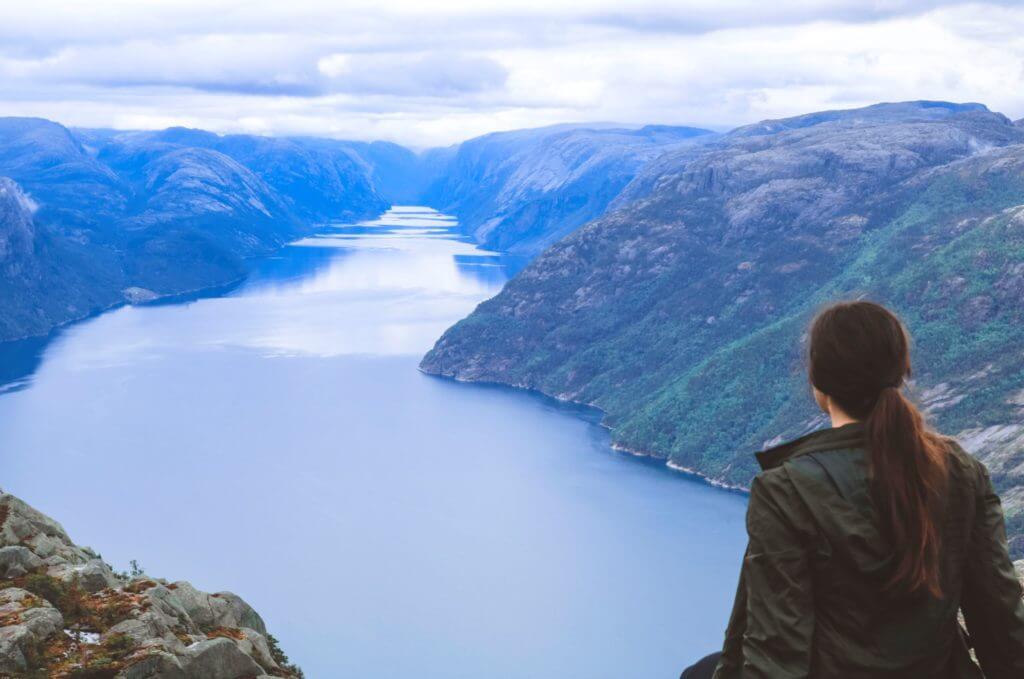 hiking priekestolen in Norway