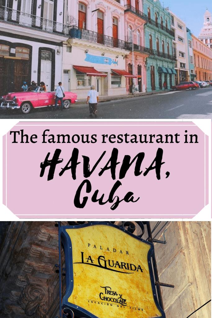 La Guarida in Havana Cuba