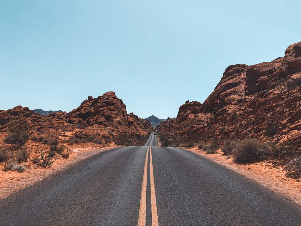 Valley of Fire from Vegas
